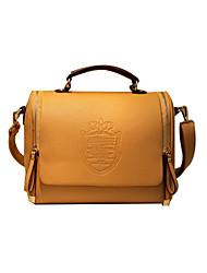 couleur de contraste millésime pu sac à bandoulière en cuir de nouveaux portage des femmes de 35 * 30 * 5cm