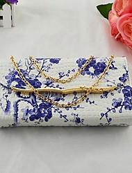 Women's Blue Love Hand PU Aslant Dual-use Bag