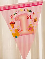 multicolore doccia bambino felice accessorio bandiera compleanno bandiera del partito