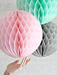 Bola de la flor de papel de tejido de nido de abeja de 12 pulgadas (más colores)