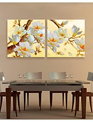 Personalized Canvas Print Art Flowers Full Of Branches 40*40cm 60*60cm Framed Canvas Painting  Set Of 2