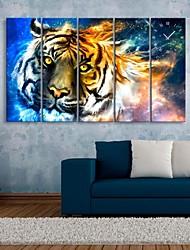 l'orologio tigre in tela di canapa 5pcs