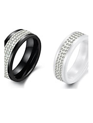 Women's Ceramic Diamond  Ring