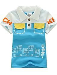 zomer nieuwe 100% katoen dunne stereo borduurwerk cartoon t-shirt jongens '