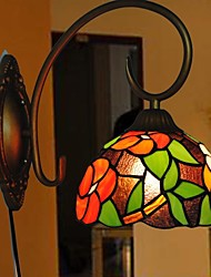 8 Inch Flower Design Stained Glass Tiffany Wall Lamp