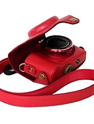 Dengpin® Canon PowerShot SX170 IS Protective Detachable Leather Camera Case Bag Cover with Shoulder Strap