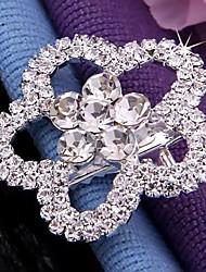estilo coreano clip de diamantes de imitación en forma de flor (1 unidad)