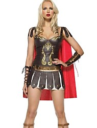 Sexy Rome Fighters Brown Terylene Halloween Costume