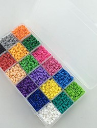 Approx 18*300PCS 18 Mixed Color 5MM Perler Beads Fuse Beads Hama Beads EVA Material Safty for Kids(Set A)