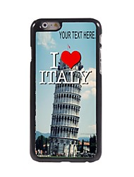 Personalized Case Italy Design Metal Case for iPhone 6 Plus