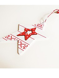 Christmas Decoratives Double Five-Pointed Star Shape 1 PC MDF Materiels