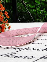 rosa cetim fita padrão de pontos (mais cores)