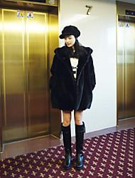 zuoge женская мода балахон свободная посадка досуг шуба
