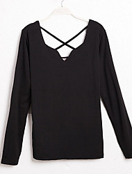 Nina Women's Round Neck Long Sleeve Blouse