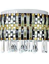 Retro LED Crystal Flush Mount 90-240V