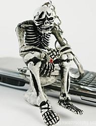 Interesting Squat Toilet Skeleton Keychain