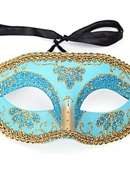 Mask Princess Fairytale Festival/Holiday Halloween Costumes Red Pink Blue Ink Blue Print Mask Halloween Carnival Female PVC