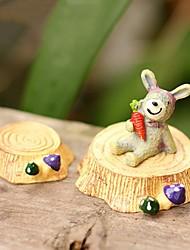 2pcs taburete tocón lindo para la decoración de la resina ornamento juguetes micro-paisaje