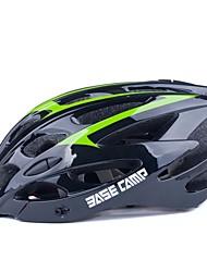 basecamp® bc-006 de alta calidad ultraligero moldeado integralmente casco de bicicleta ajustable 28 respiraderos verde + negro