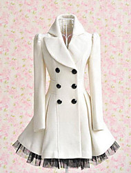 largo abrigo de lana de las mujeres de lavanda