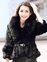 женская сплайсинга лисицы семь целых рукав пальто