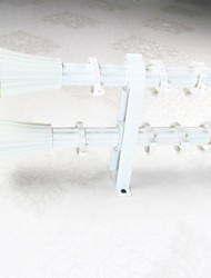 Aluminum Alloy Spray Ivory White Plum Fine Umbrella Rome Rod Curtain Double Rod 05701-02