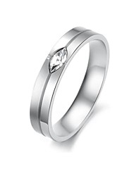 Women's Ceramic Diamond Stainless Steel  Ring