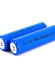 12 pz neutro 18650 3.7v-4.2v 5000mAh batteria al litio ricaricabile blu profondo