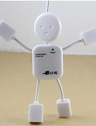 menschliche Gestalt USB 2.0 Hub 4-Port-Erweiterung für PC-Laptop MacBook Notebook