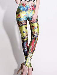 ROSI Women's Star Sky Digital Floral Print Bottoming Pants