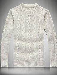 Herren Standard Pullover-Sport Lässig/Alltäglich Solide Langarm Baumwolle Andere