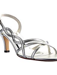 Women's Wedding Shoes Slingback/Open Toe Sandals Wedding/Dress/Party & Evening Silver/Gold