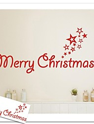 "ZOOYOO® Cute Colorful PVC Removable word ""Merry Christmas""  of  Wall Stickers Hot Selling Wall Decals For Home Decor"