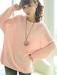 Women's Batwing Knitted Pullover Jumper Casual Loose Sweater