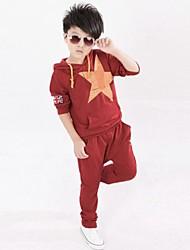 Pentagram de moda del bromista dos piezas de ropa deportiva para niños