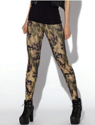 ROSI Women's Camouflage Sexy Silk Bottoming Pants