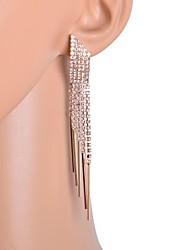 mujeres de la moda 5 filas pendientes de la cadena de cristal