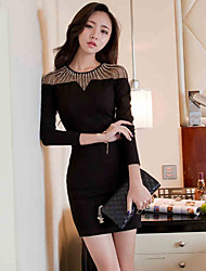 Sexylady New Transparent Long Sleeve Dress