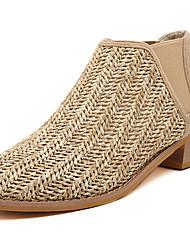 De Shanhu vrouwen vintage dikke hiel wees teen schoenen