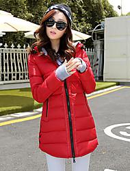 Coreia do hoodie da bainha elegante lã longo casaco feminino dm