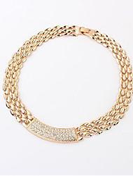 Masoo Women's Brief Inlay Diamond Necklace