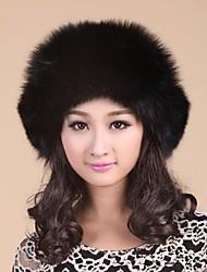 reale genuino della pelliccia di volpe delle donne di inverno del cappello berretto beanie delle donne