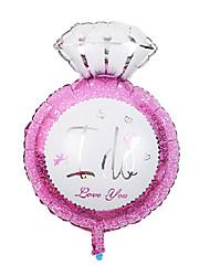 день партия шар розовый бриллиант кольцо алюминиевая мембрана свадебного валентина