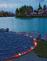 Lampada a energia solare 6-led outdoor vialetto strada percorso dock luce di punto red-illuminazione
