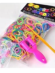 600pcs arc bricolage bande caoutchouc de style couleur de métier / silicone bracelets de les bandes, 24 s-clips colorés, une métiers, 1hook