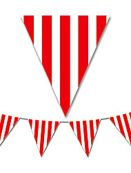 The Red Stripe Flag Banner Party Accessory