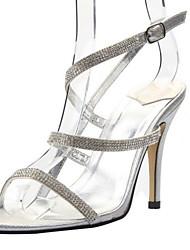tacón de aguja de la honda de las mujeres zapatos de las sandalias de espalda (más colores)