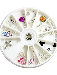 art coloré grand strass à ongles style rose décorations