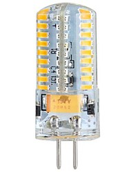 G4 4 W 72 SMD 3014 360 LM Warm White Corn Bulbs/Bi-pin Lights DC 12/AC 12/AC 24/DC 24 V