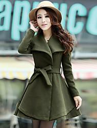 yuelisi ropa nueva coreano abrigo solapa fina